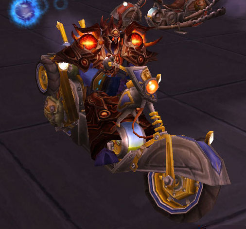 Psion on a motorcycle in Ulduar!